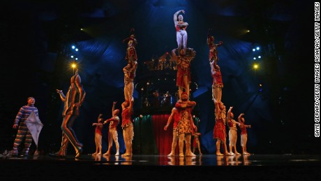 SYDNEY, AUSTRALIA - AUGUST 24: Performers onstage during the Cirque du Soleil KOOZA Sydney Dress Rehearsal at The Entertainment Quarter on August 24, 2016 in Sydney, Australia.  (Photo by Gaye Gerard/Getty Images)