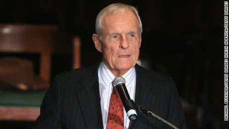Producer Grant Tinker speaks at the Academy of Television Arts and Sciences Hall of Fame Induction Ceremony at the Beverly Hills Hotel on December 14, 2006 in Beverly Hills, California.  (Photo by Michael Buckner/Getty Images)