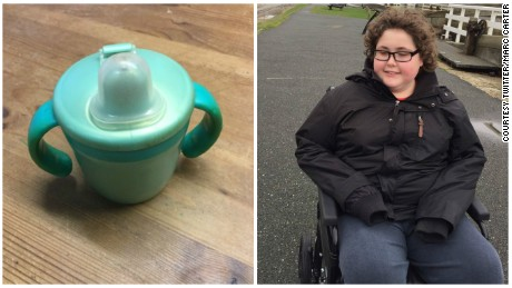 The original Tommee Tippee cup used by autistic boy Ben Carter.