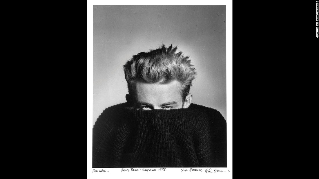 Phil Stern gave Leifer this 1955 photo of actor James Dean.