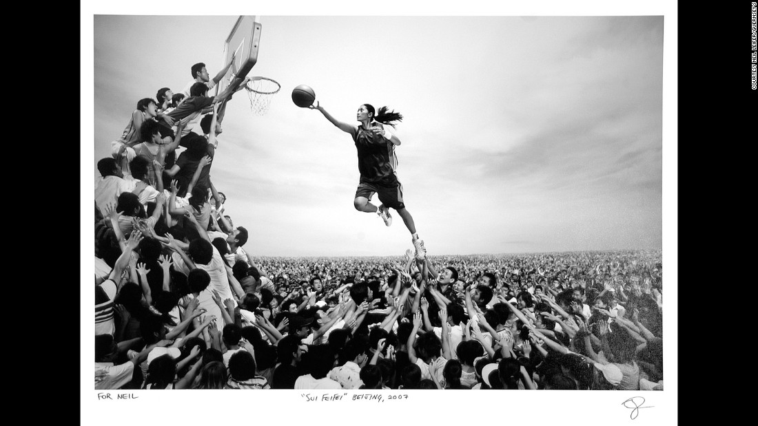 This photo of Chinese basketball player Sui Feifei, taken by Mark Zibert, was staged in Beijing in 2007. It was part of a print campaign for the 2008 Beijing Olympics.