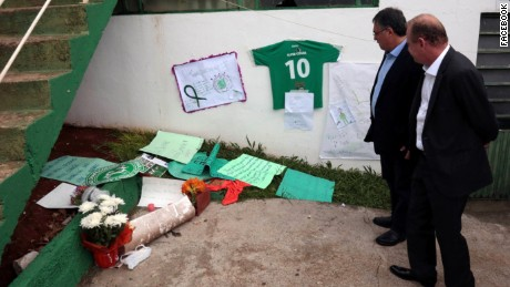 Gelson Merisio visted the team's stadium to pay his respects.