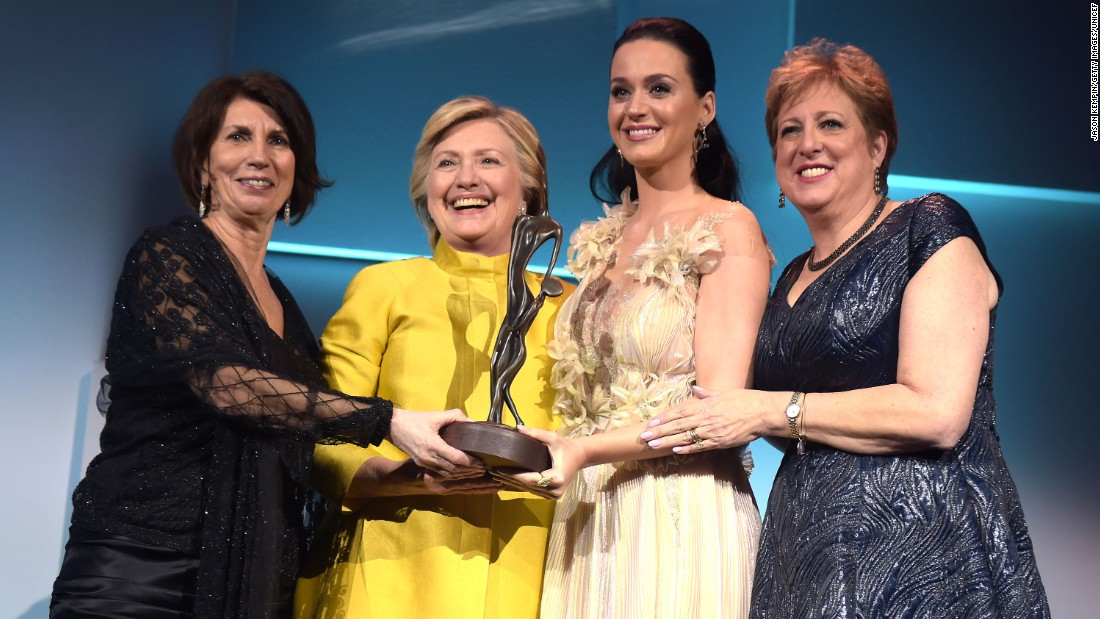 Hillary Clinton Surprises Katy Perry