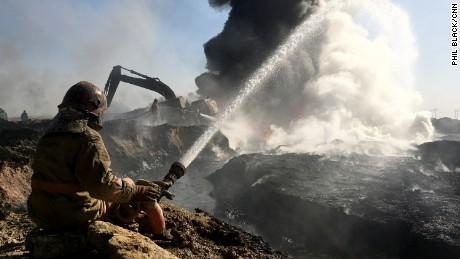 01 Al Qayyara burning oil wells ISIS_Photo 26-11-2016, 08 34 32