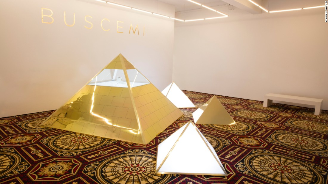 They're housed in a gold-gilded pyramid in the brand's store in downtown Manhattan.