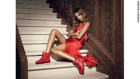Model Jourdan Dunn in Buscemi's Pre-Spring 2016 lookbook
