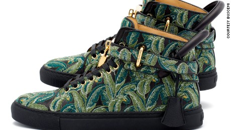 Buscemi 100mm in Palm/Black Green retails for $1,200.