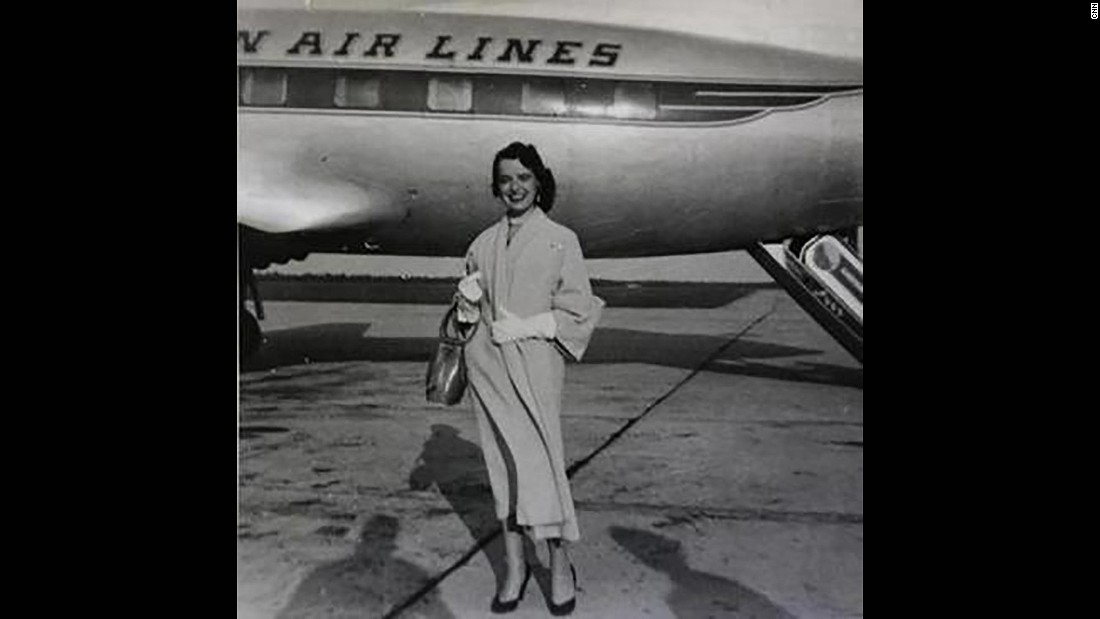 When she first took flight, planes were a place of luxury -- almost a vacation in itself. It was a sophisticated party in the air, where everyone wore their Sunday best and ate lobster on real china.