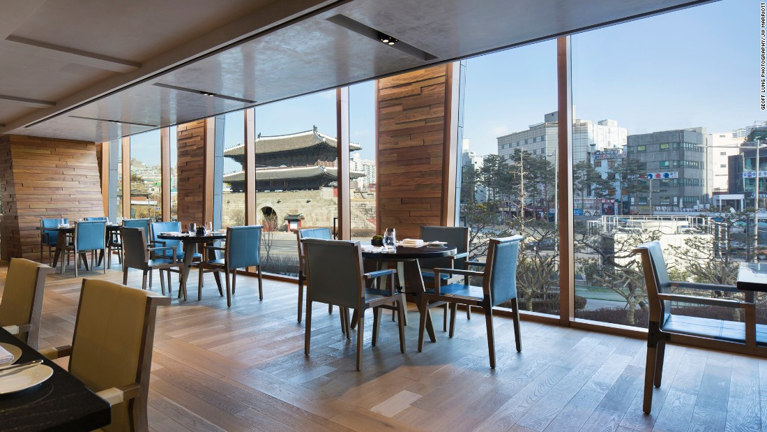 The JW Marriott overlooking historic Dongdaemun Gate in Seoul hopes to warm visitors with traditional roast turkey and beef Wellington at its signature restaurant.