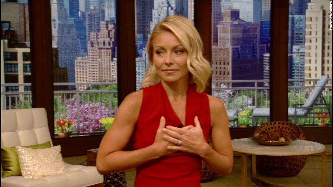 "Talk-show host Kelly Ripa <a href=""http://money.cnn.com/2016/04/26/media/kelly-ripa-returns-michael-strahan/"" target=""_blank"">returns to ""Live with Kelly and Michael""</a> after a weeklong absence in April. She confirmed that Disney and ABC executives apologized to her for keeping her in the dark about the impending exit of her co-host, Michael Strahan. ""I needed a couple of days to gather my thoughts,"" she told the live audience. ""After 26 years with this company, I earned the right."" During her monologue, she also congratulated Strahan for his new full-time role on ABC's ""Good Morning America."""