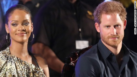 BRIDGETOWN, BARBADOS - NOVEMBER 30:  Prince Harry and singer Rihanna attend a Golden Anniversary Spectacular Mega Concert at the Kensington Oval Cricket Ground on day 10 of an official visit to the Caribbean on November 30, 2016 in  Bridgetown, Barbados. Prince Harry's visit to The Caribbean marks the 35th Anniversary of Independence in Antigua and Barbuda and the 50th Anniversary of Independence in Barbados and Guyana.  (Photo by Chris Jackson/Getty Images)