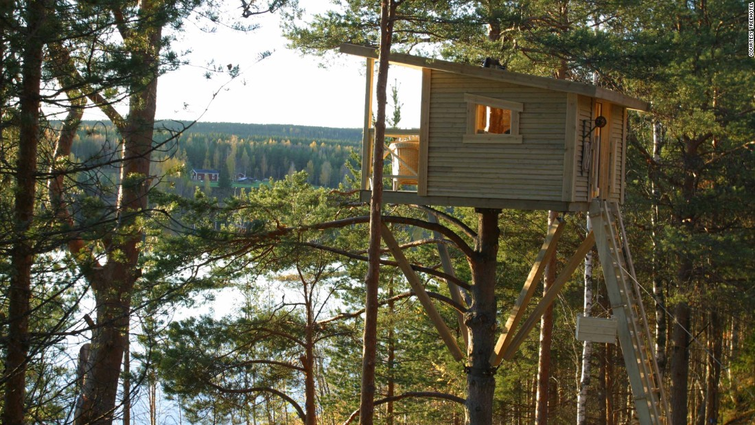 The seven tree houses at the Treehotel in northern Sweden all sport imaginative, eco-conscious designs.