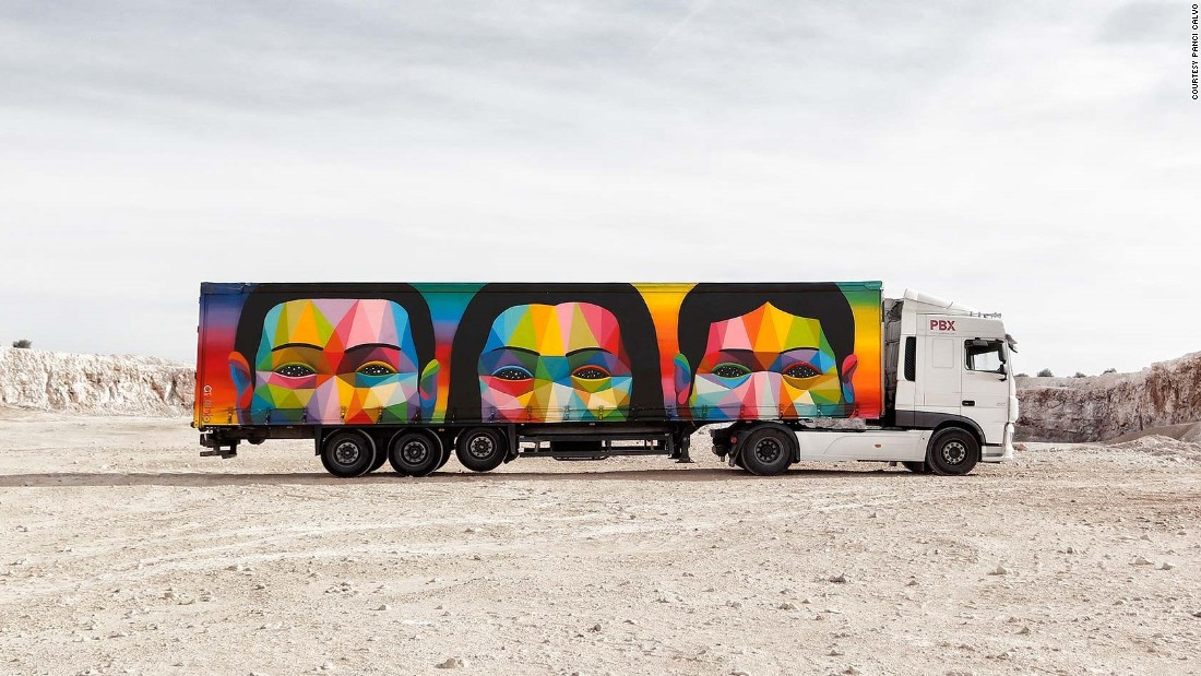 "With a fleet of specially painted vehicles, the <a href=""http://truck-art-project.com/?lang=en"" target=""_blank"">Truck Art Project</a> is bringing some of Spain's best known artists out of the galleries and onto the streets.<br />Spanish street artist Okuda San Miguel was the first artist to take part in the Truck Art Project in 2015."