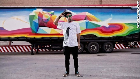 Spanish street artist Okuda San Miguel was the first artist to take part in the Truck Art Project in 2015.
