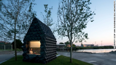 This cabin is made from 3D-printed bio-pastic