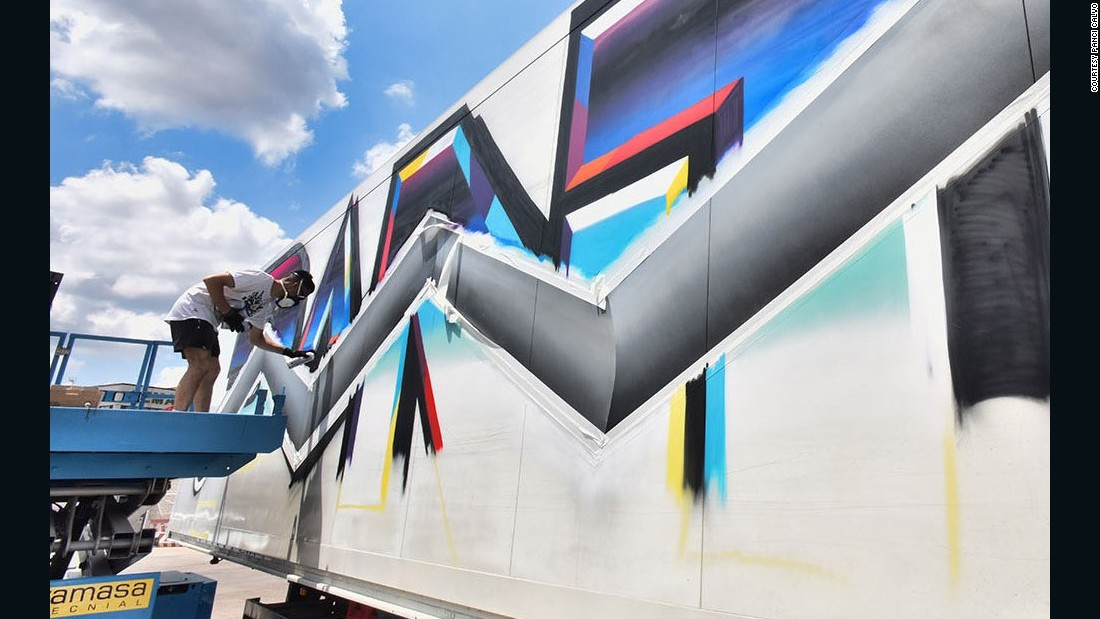 Felipe Pantone is known for his avant garde graffiti. He was part of the Ultra Boyz crew.