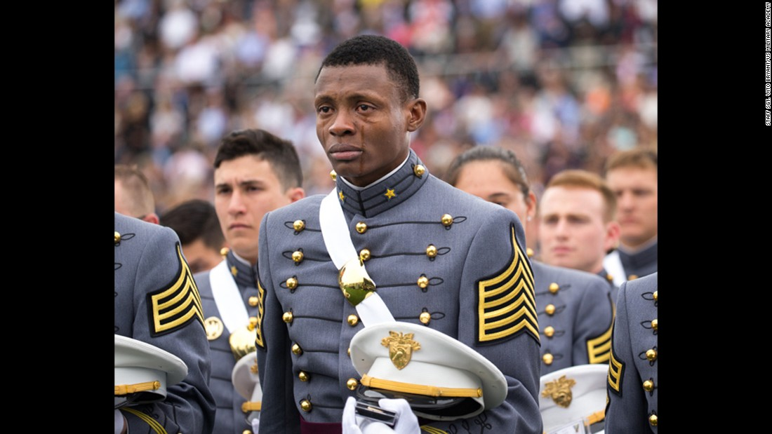 "<strong>May 21:</strong> Cadet Alix Idrache <a href=""http://www.cnn.com/2016/05/25/us/west-point-graduates-emotional-photo-trnd/index.html"" target=""_blank"">sheds tears of joy</a> as he graduates from the US Military Academy in West Point, New York. ""I am from Haiti and never did I imagine that such honor would be one day bestowed on me,"" he said. He will soon be going to flight school. ""Knowing that one day I will be a pilot is humbling beyond words,"" he said. ""I could not help but be flooded with emotions knowing that I will be leading these men and women who are willing to give their all to preserve what we value as the American way of life."""