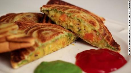 The chutney sandwich is a Mumbai classic.