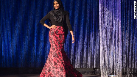 Halima Aden said taking part in the pageant was intended to inspire others.