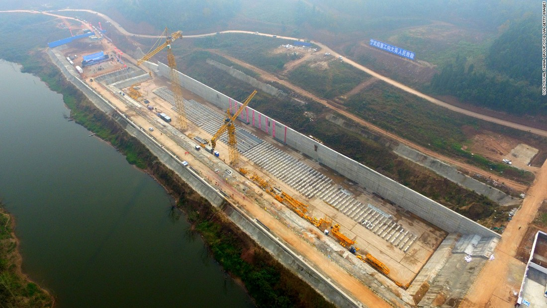 <strong>Permanently docked: </strong>The multi-million dollar project will include reproductions of the original Titanic's features, including a ballroom, theater and swimming pool, and will be permanently docked in a reservoir in the Qijiang River.