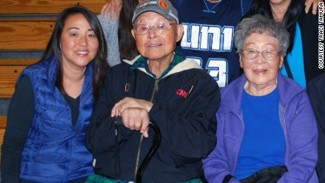 Traci Tamura and her parents, Hideo and Alice Tamura.