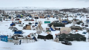 Veterans arriving to support Dakota pipeline protesters