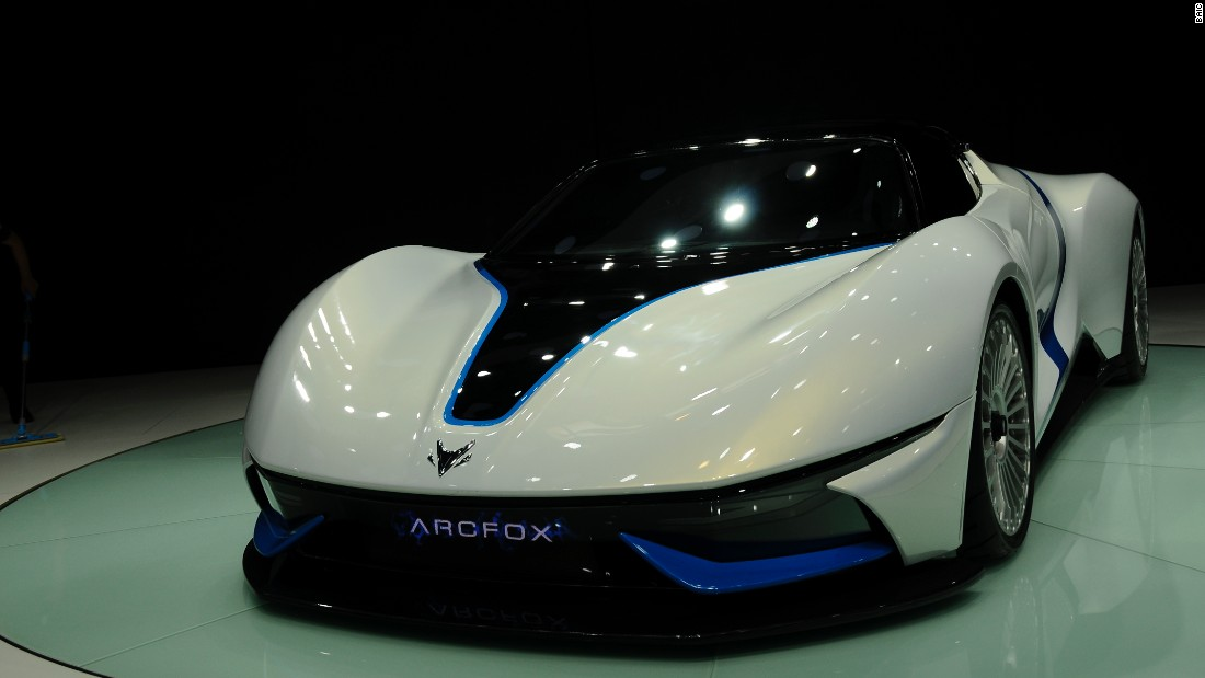 The BAIC ArcFox-7 made its debut at the Beijing Show 2016; it has a 603bhp electric motor and can reach 62mph in less than three seconds.
