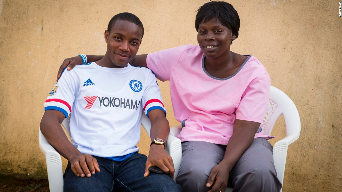 Nurse Jugbeh Kekula, winner of the 2015 competition, with onetime patient Joshua Flomo, who nominated her. <br /><br />Kekula played a vital role in fighting the ebola crisis in her community, where she is a much-loved figure.