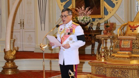 New Thai King Vajiralongkorn at a ceremony in Bangkok on December 1, 2016.