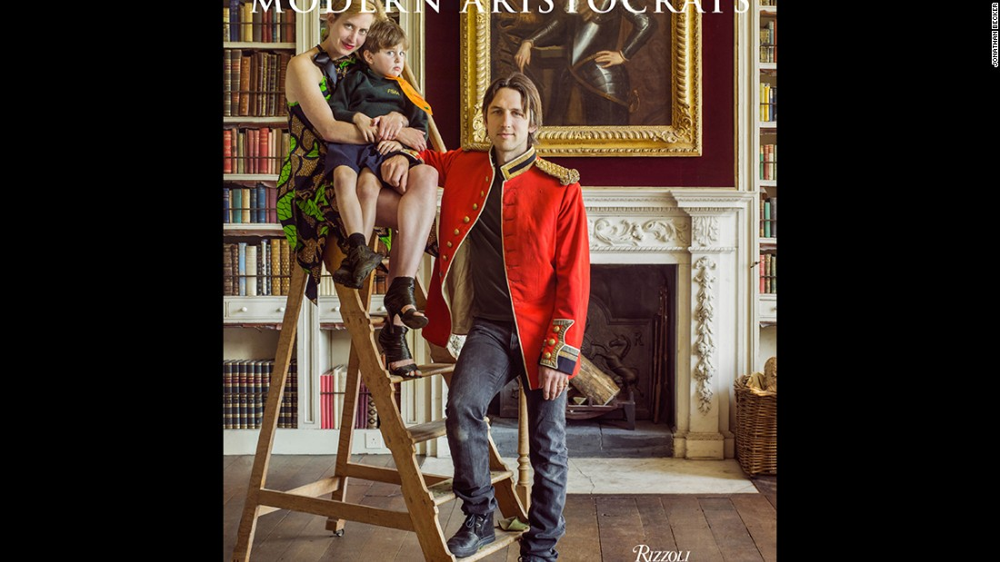 "The 12th Earl and Countess of Shaftesbury pose with their son in the library of St. Giles House for the cover of ""Great Houses: Modern Aristocrats"". ""The fecklessness of the English upper class has been a favorite story line in literature and film. But I was consistently impressed by the creativity and industry of every person in this book,"" Reginato writes in the book's introduction."
