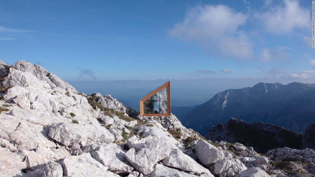 "This<a href=""http://www.ofis-a.si/str_2/ofis_base.html"" target=""_blank""> Alpine Shelter</a> on Skuta Mountain in Slovenia was designed as a refuge point for climbers, and to meet the needs of of the alpine climate, which include extreme weather, radical temperature shifts and rugged terrain."