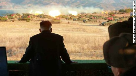 North Korean leader Kim Jong Un leads military drills focused on artillery battle training on Thursday, December 1.