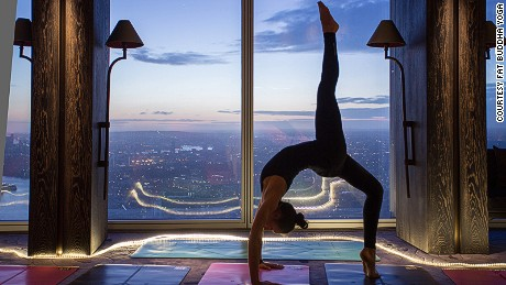 Room with a view: London's Fat Buddha Yoga runs classes inside The Shard.