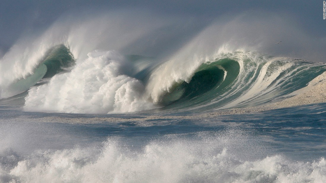 Large waves break off the shoreline in Pacific Grove, California, on November 9.