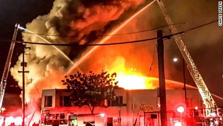 The warehouse fire killed more than 30 people.