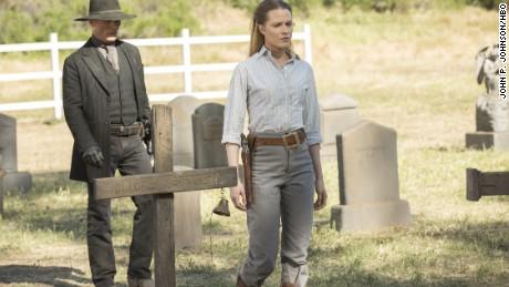 """Ed Harris, Evan Rachel Wood in HBO's """"Westworld"""""""