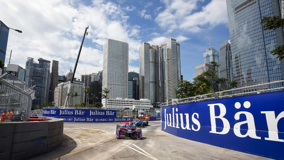 Hong Kong's dramatic skyline provided the backdrop to the first Formula E race of the 2016/17 season.