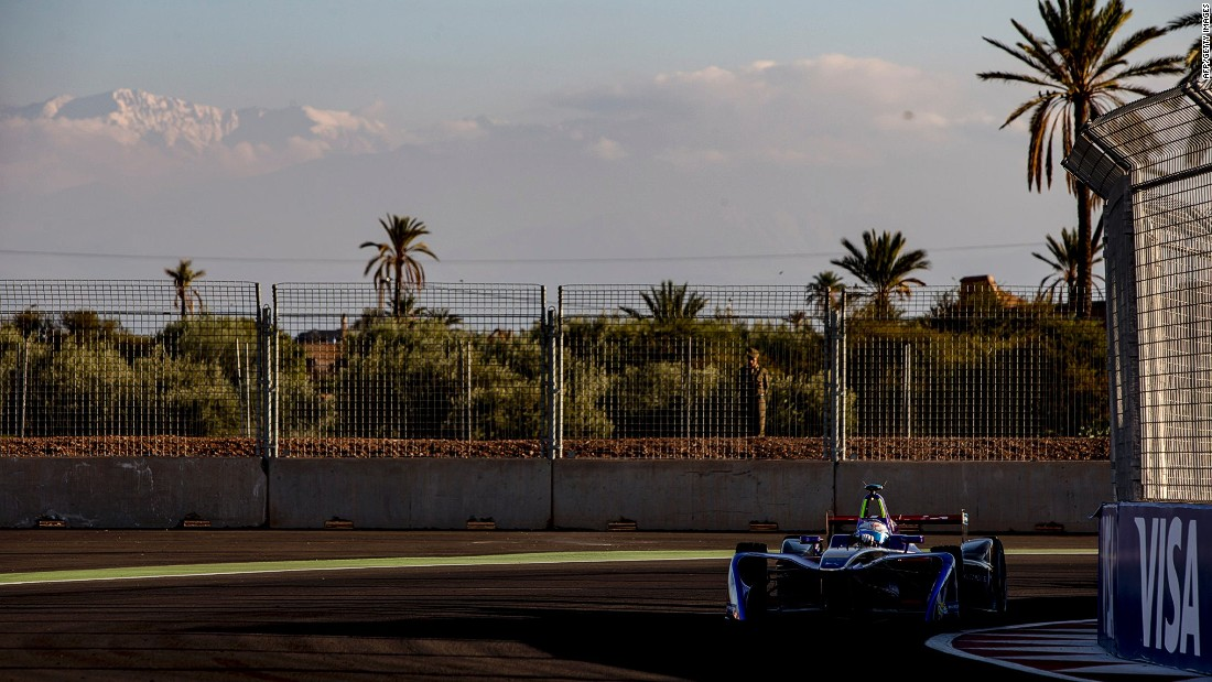 Virgin Racing's Sam Bird ended up taking second place at the Marrakech ePrix -- the first time Africa had hosted Formula E racing.