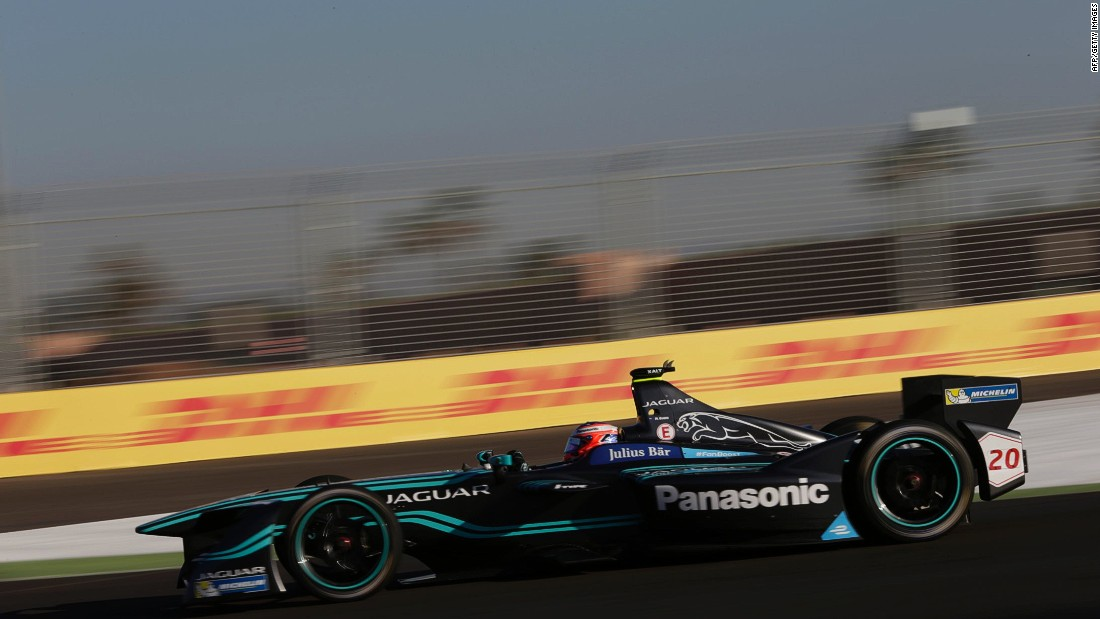 Jaguar Racing's Mitch Evans on track at the Marrakech ePrix in November.