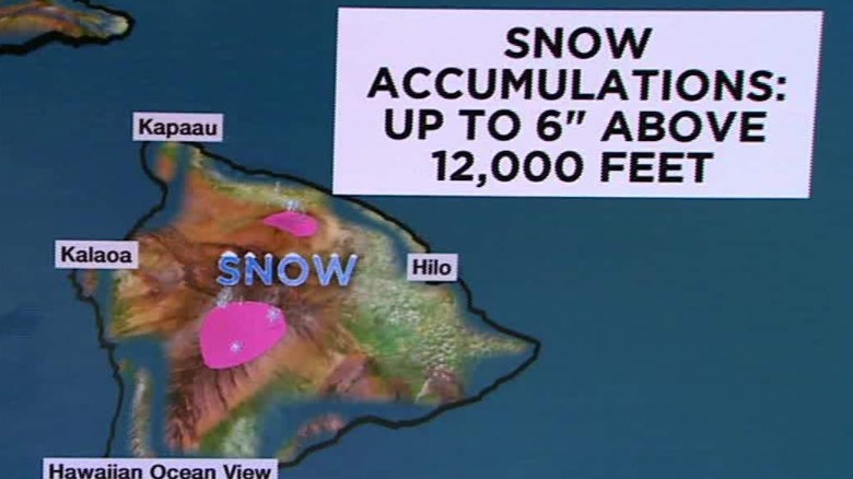 Hawaiian peaks could get 6 inches of snow