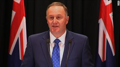New Zeland Prime Minister John Key resignation