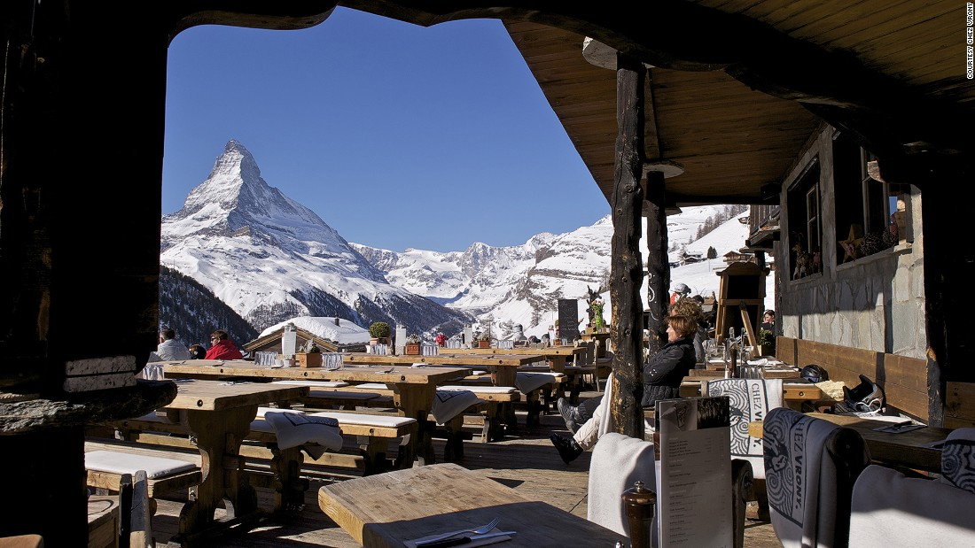 Originally a simple farmhouse on the slopes of Zermatt, Chez Vrony has become a prized table for gourmet skiers.