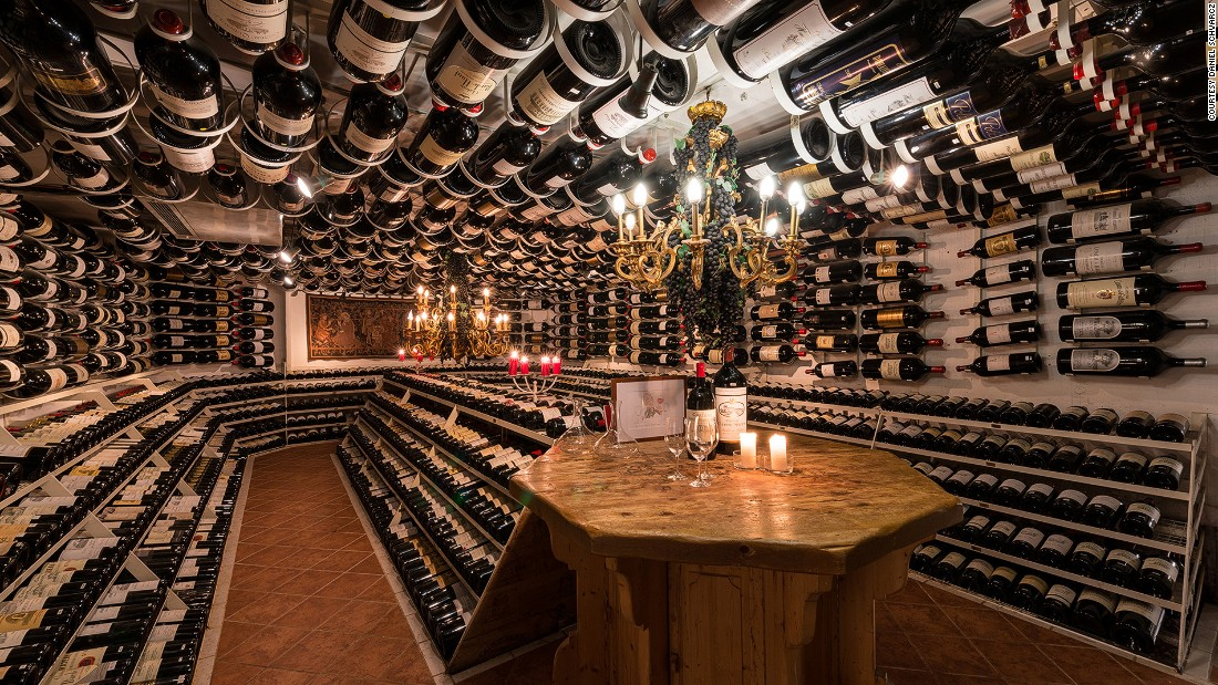 Hospiz Alm restaurant also boasts a top-notch wine cellar, housing precious vintages in large bottles.