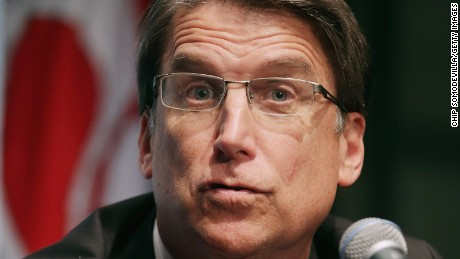 North Carolina Governor Pat McCrory holds a news conference with fellow members of the Republican Governors Association at the U.S. Chamber of Commerce February 23, 2015 in Washington, DC.