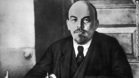 Vladimir Lenin led the the Bolshevik October Revolution and became leader of the Communist Party.
