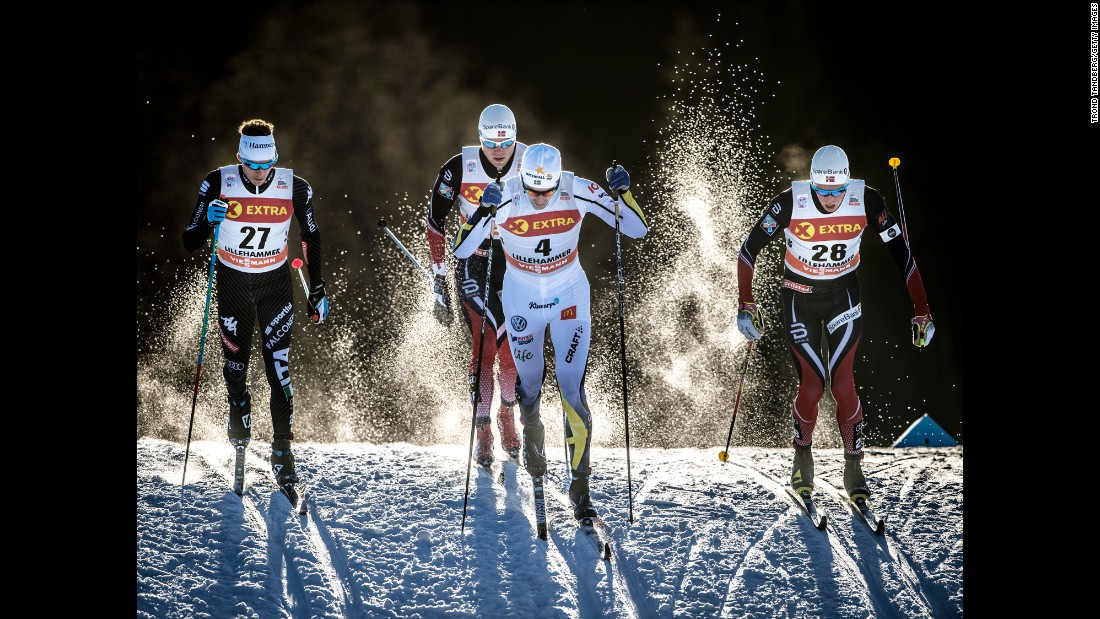Skiers compete in the FIS Sprint C race in Lillehammer, Norway, on Friday, December 2.