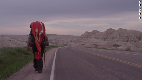 Iraq combat veteran Jonathan Hancock faced long spells alone on his 5,800-mile walk from Maryland to California.