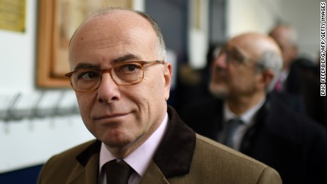 French Interior Minister Bernard Cazeneuve is pictured as part of a visit focused on  security measures at Jewish schools on December 2, 2016 in Paris.  / AFP / ERIC FEFERBERG        (Photo credit should read ERIC FEFERBERG/AFP/Getty Images)