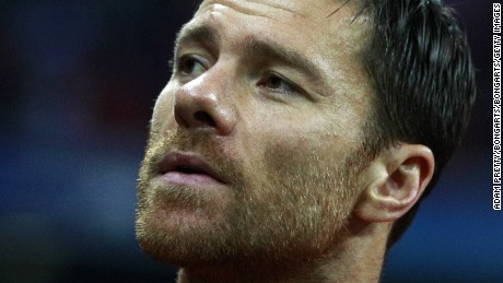 MUNICH, GERMANY - SEPTEMBER 13: Xabi Alonso of Bayern Muenchen looks on during the UEFA Champions League Group D match between FC Bayern Muenchen and FC Rostov at Allianz Arena on September 13, 2016 in Munich, Germany.  (Photo by Adam Pretty/Bongarts/Getty Images)