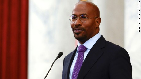 WASHINGTON, DC - APRIL 28:  Van Jones speaks during #JusticReformNow Capitol Hill Advocacy Day at Russell Senate Office Building on April 28, 2016 in Washington, DC.  (Photo by Leigh Vogel/Getty Images)
